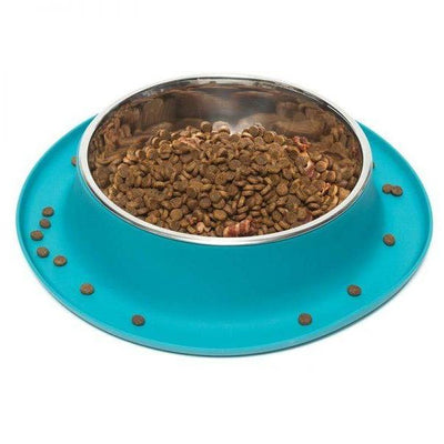 Single Bowl Feeder in Blue by Messy Mutts