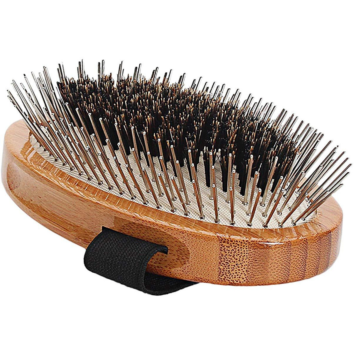 Bass Brushes Wire Pin/Boar Hair Palm Style Brush