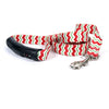 Yellow Dog Design EZ-Grip Holiday Peppermint Chevron Dog Leash