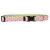 Yellow Dog Design Pink & Green Polka Dot Cat Collar