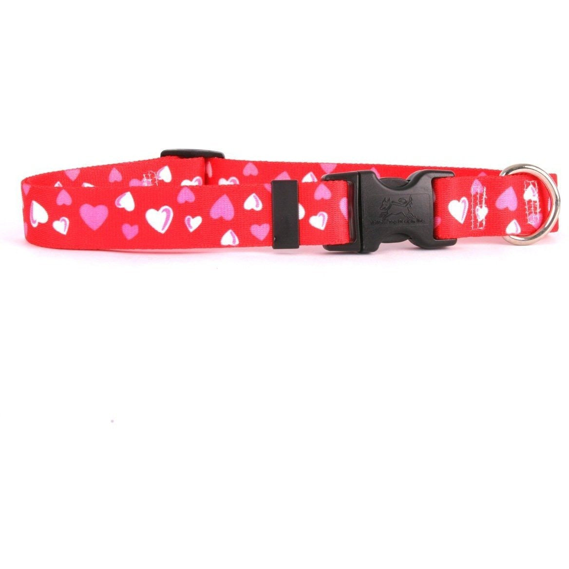 Yellow Dog Design Red Hearts Cat Collar