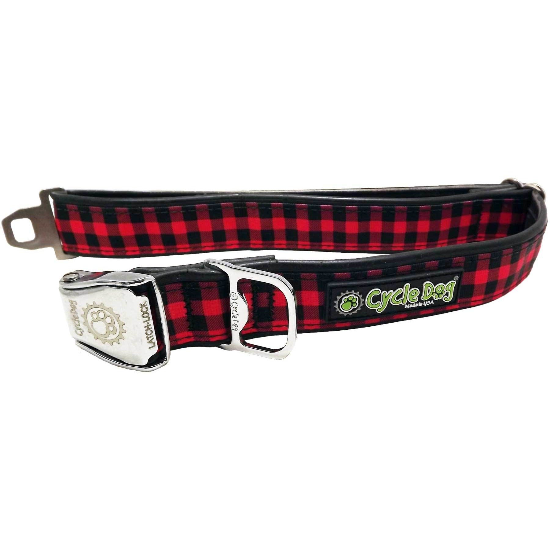 Cycle Dog Red Plaid Dog Collar