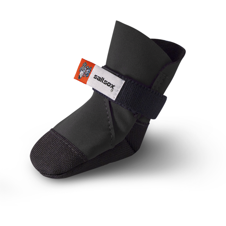 SaltSox Winter Dog Boots, Blizzard Black