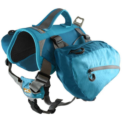 coastal blue dog hiking backpack