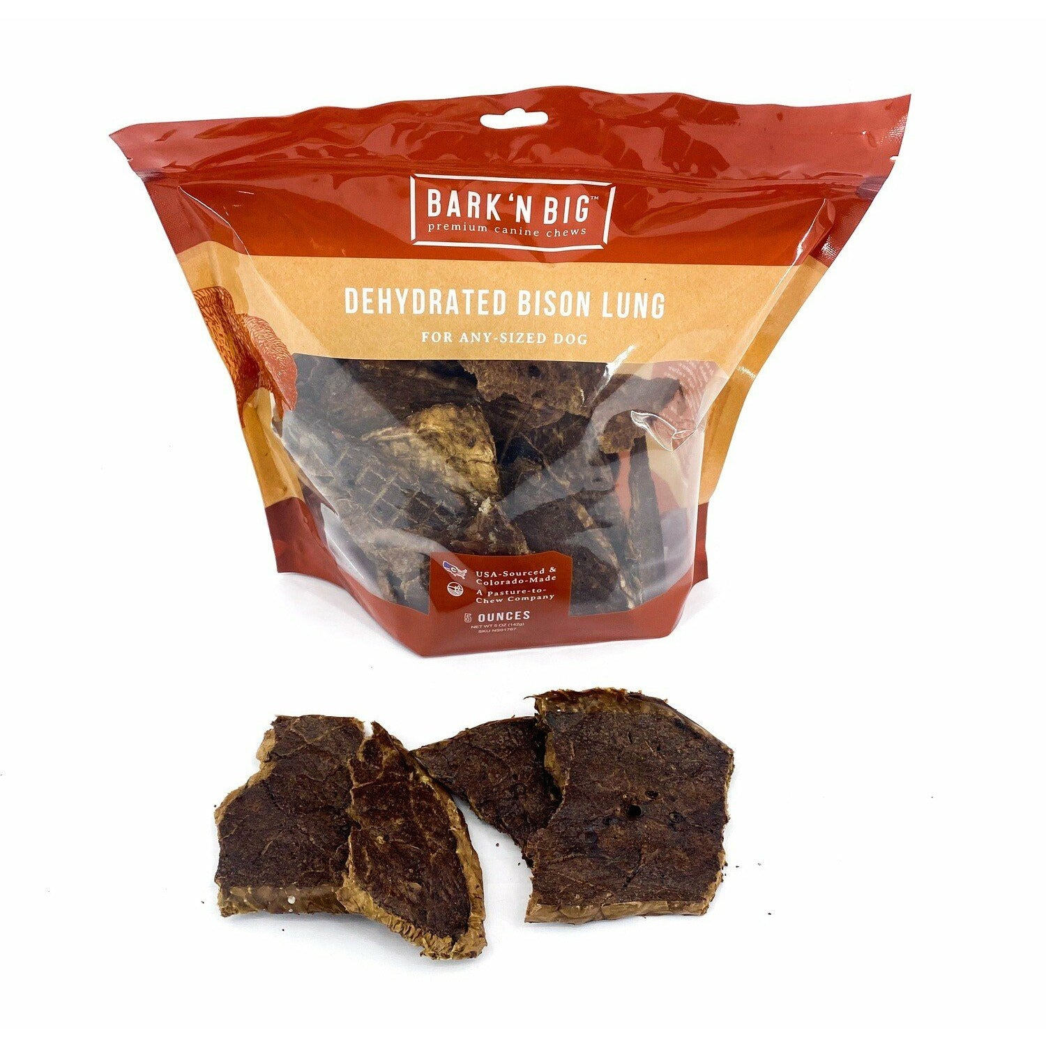 BarknBig Bison Puffs Treat 5oz