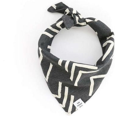The Foggy Dog - Modern Mud Cloth Dog Bandanas