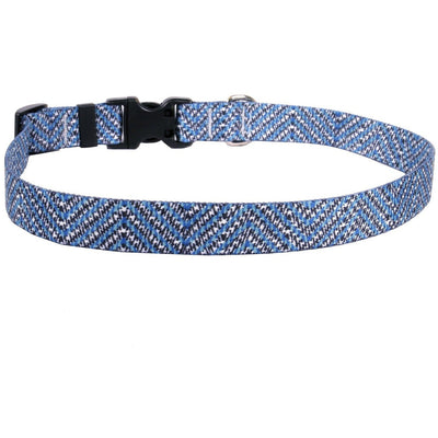 Blue Tweed Dog Collar by Yellow Dog Design