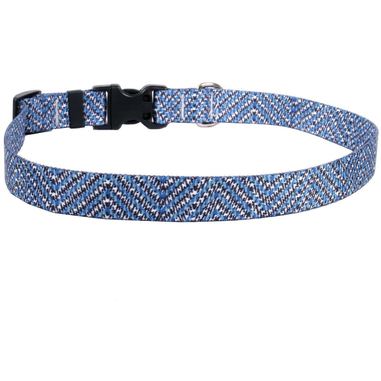 Yellow Dog Design Blue Tweed Cat Collar