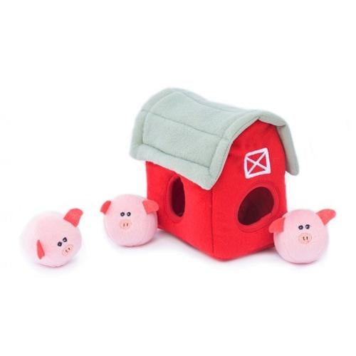 ZippyPaws Barn with Bubble Babiez Pigs Burrow