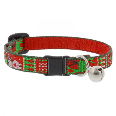 LupinePet Originals Cat Safety Collar - Ugly Sweater Limited Edition