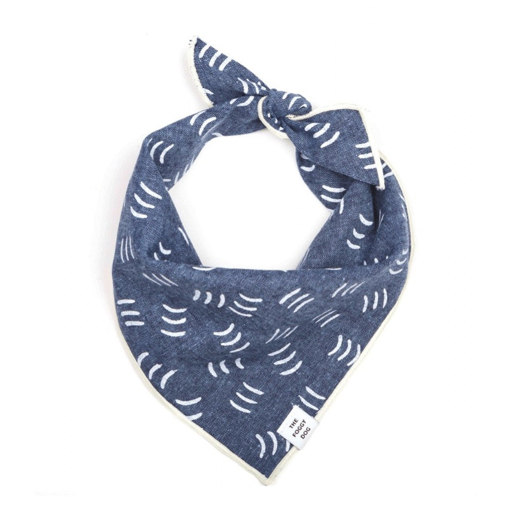 The Foggy Dog - Denim Waves Bandana