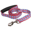 Yellow Dog Design EZ-Grip Gingham Red & Blue Dog Leash