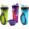 H-DuO Dual Hydration Bottle with Collapsible Pet Cup by Dexas