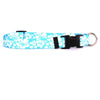 Island Floral Blue Dog Collar by Yellow Dog Design