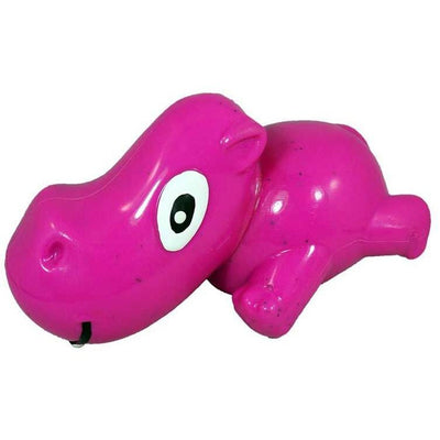 Recycled Rubber Hippo Interactive Dog Toy, Pink
