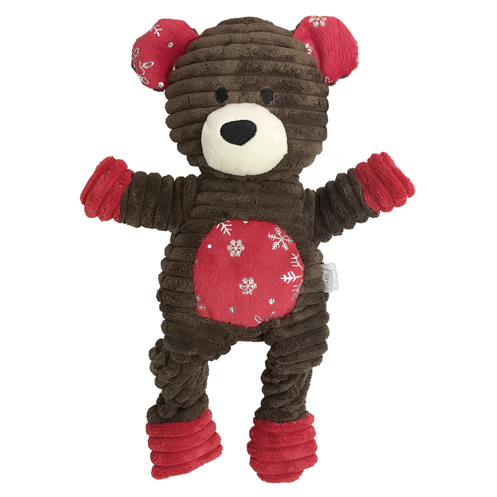 foufouBrands Holiday Frosted Knotted Bear