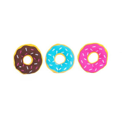 ZippyPaws Burrows Miniz - 3 pack Donuts