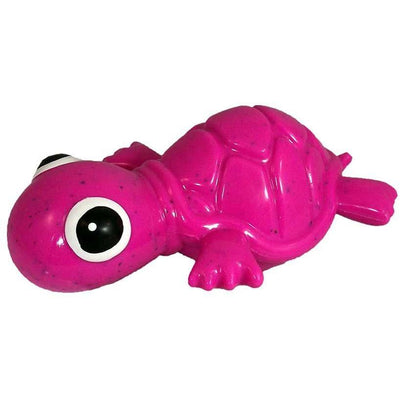 Recycled Rubber Turtle Interactive Dog Toy, Mini Pink
