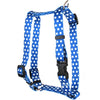 Yellow Dog Design Navy Polka Dot Roman Harness