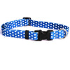 Yellow Dog Design Navy Polka Dot Cat Collar