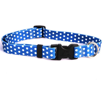 Yellow Dog Design Navy Polka Dot Dog Collar