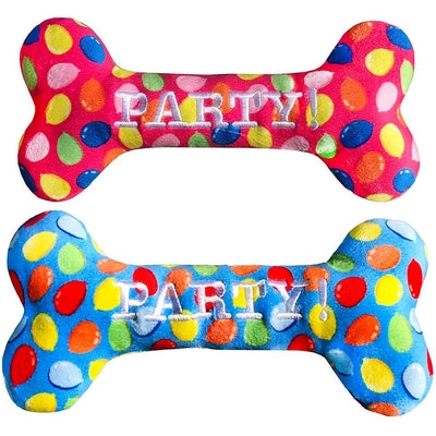 Lulubelles Party Time Plush Dog Bone