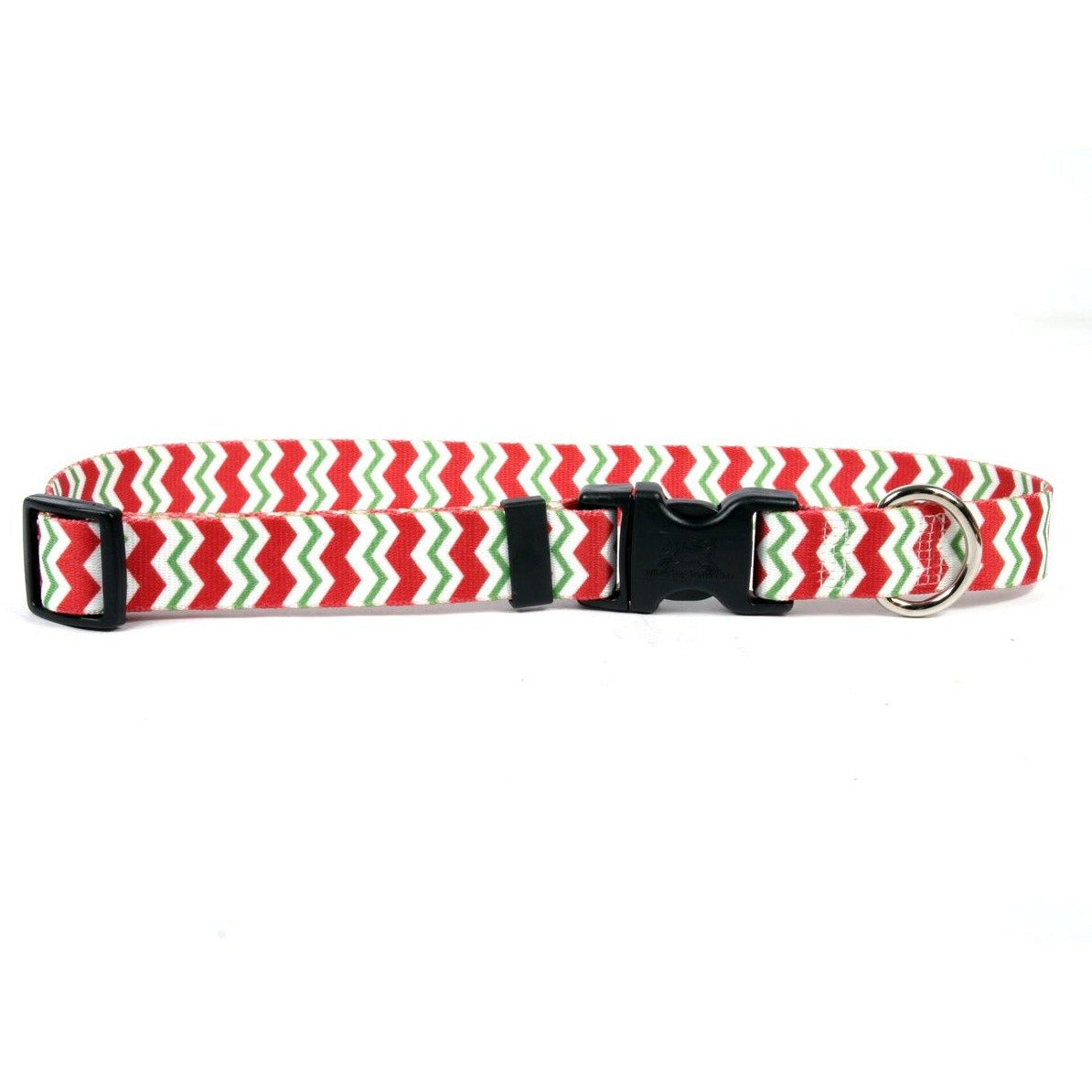 Yellow Dog Design Holiday Peppermint Chevron Cat Collar
