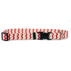 Yellow Dog Design Holiday Peppermint Chevron Dog Collar