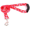 Yellow Dog Design EZ-Grip Holiday Red Snowflakes Dog Leash