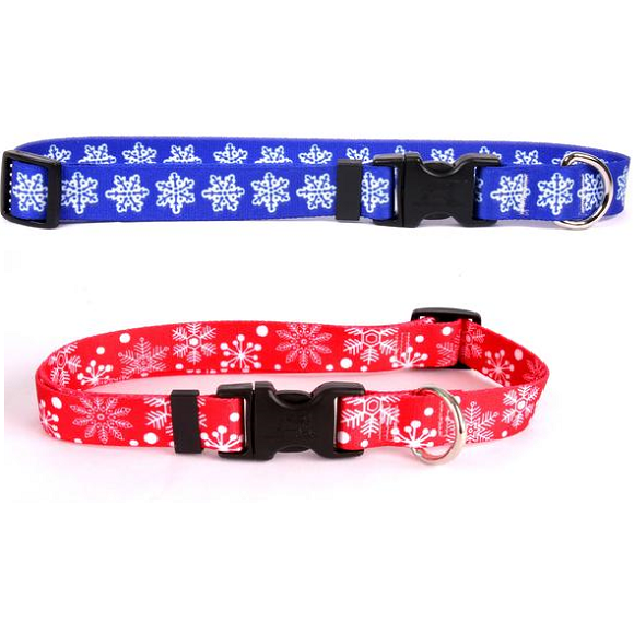 Yellow Dog Design Holiday Snowflake Cat Collar