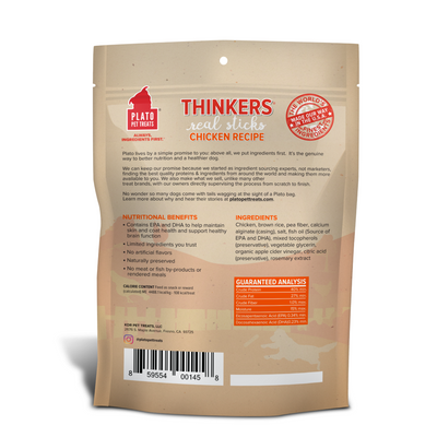 Plato Pet Treats Chicken Thinker Sticks