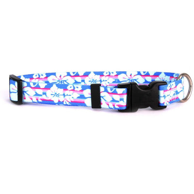 Yellow Dog Design Tropical Flowers Dog Collar