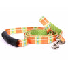 Yellow Dog Design EZ-Grip Uptown Madras Orange Dog Leash