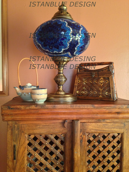 Table lamps istanblue design stunning turkish handmade table lamp 15 inch mozeypictures Images