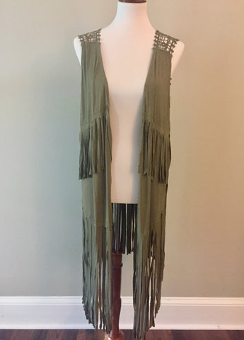 All About That Fringe Vest
