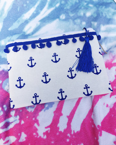 Anchor Pom Pouch