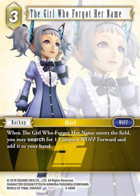 The Girl Who Forgot Her Name 3-089R