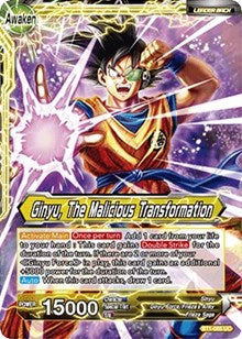 Ginyu, The Malicious Transformation BT1-085 UC