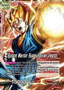 Fusion Warrior Super Saiyan Vegito BT2-001 R