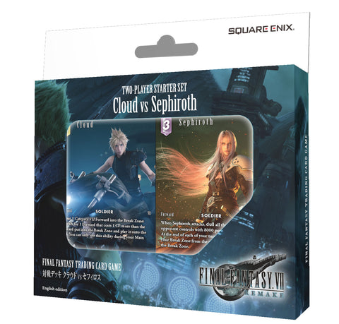 Final Fantasy Trading Card Game Two-Player Starter Set Cloud vs Sephiroth