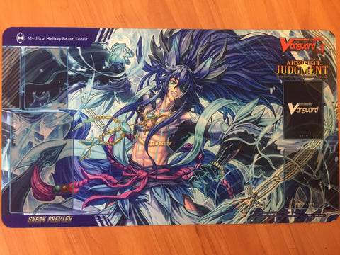 Cardfight Vanguard G Absolute Judgement Sneak Preview Fenrir Playmat