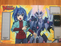 Cardfight Vanguard Awakening of Twin Blades Aichi and Majesty Lord Blaster Playmat