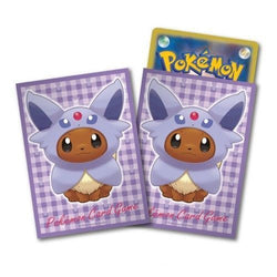 Pokemon Card Game Eevee Espeon Poncho Deck Protector Sleeves