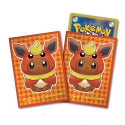 Pokemon Card Game Eevee Flareon Poncho Deck Protector Sleeves