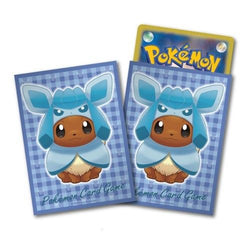 Pokemon Card Game Eevee Glaceon Poncho Deck Protector Sleeves