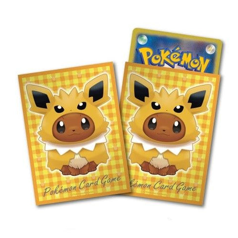 Pokemon Card Game Eevee Jolteon Poncho Deck Protector Sleeves