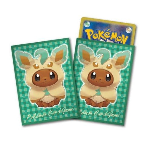 Pokemon Card Game Eevee Leafeon Poncho Deck Protector Sleeves