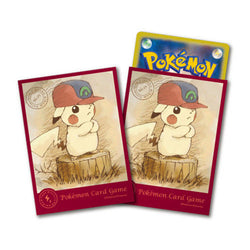 Pokemon Card Game Pikachu in Ash's Hoenn Hat Sleeves