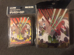 Pokemon Card Game Dusk and Midnight Form Lycanroc Sleeves and Deck Box Combo