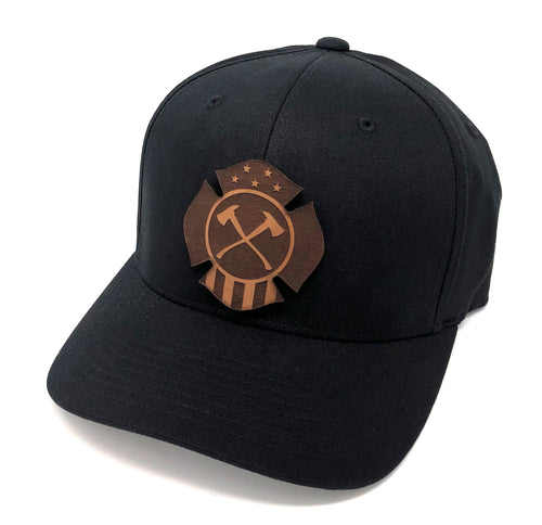 Fire Fifty Leather Logo Hat